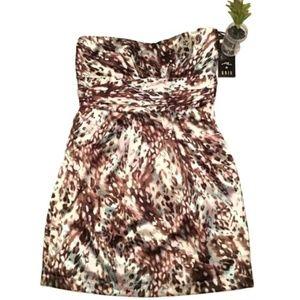Ali & Kris Strapless Dress, Gathered Waist, M